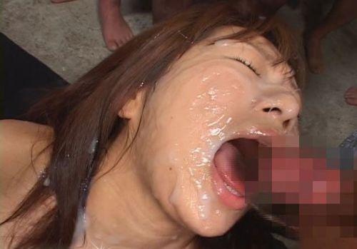 ザーメンを大量にぶっかけられた女の子の反応をみるエロ画像 38枚 No.9