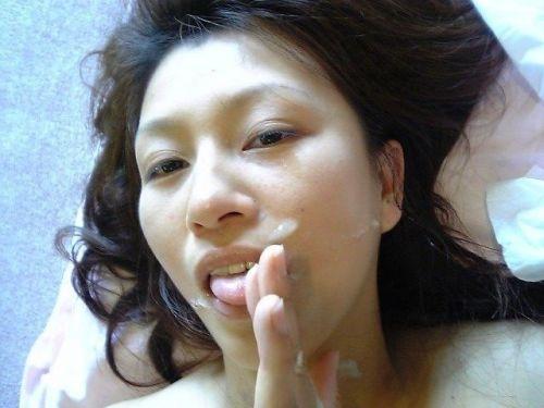 ザーメンを大量にぶっかけられた女の子の反応をみるエロ画像 38枚 No.13