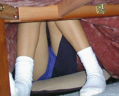 【画像】こたつに入った姉や妹のパンチラを盗撮した結果www 31枚 No.4