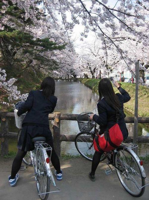 【盗撮】朝一からパンチラしちゃうJKの自転車通学エロ画像 38枚 No.25