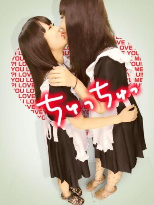 プリクラ内でJKが悪ノリしてキスしちゃってるエロ画像ww 37枚 No.11