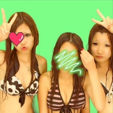 【プリクラ画像】スタイルの良いギャル達がビキニ撮影した結果www 31枚 No.16