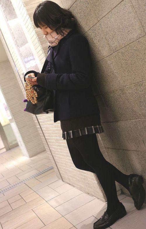 【盗撮】黒タイツを履いたミニスカ女子高生画像まとめ 36枚 No.3
