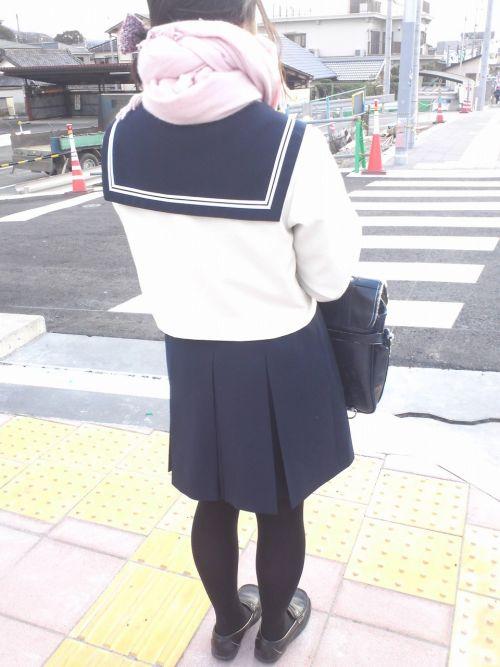 【盗撮】黒タイツを履いたミニスカ女子高生画像まとめ 36枚 No.4