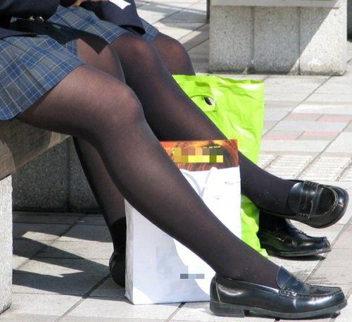 【盗撮】黒タイツを履いたミニスカ女子高生画像まとめ 36枚 No.13