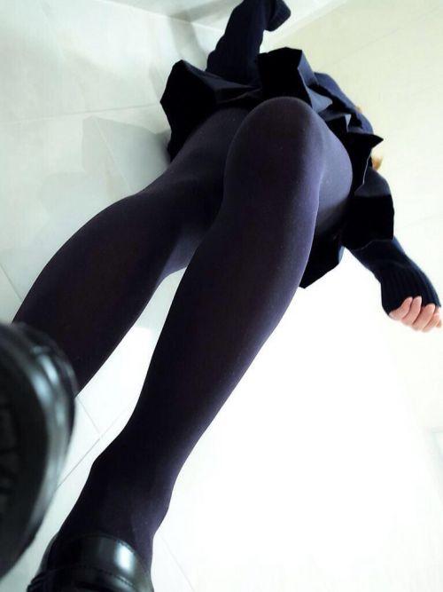 【盗撮】黒タイツを履いたミニスカ女子高生画像まとめ 36枚 No.14