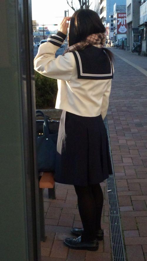 【盗撮】黒タイツを履いたミニスカ女子高生画像まとめ 36枚 No.15