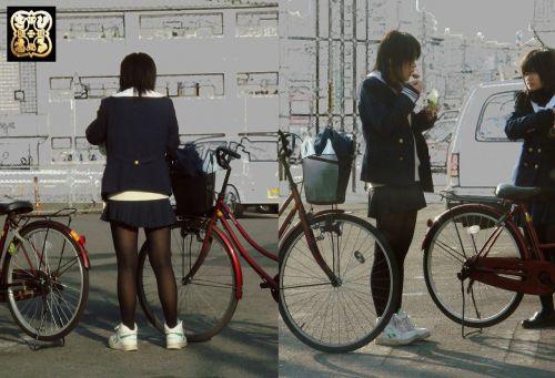 【盗撮】黒タイツを履いたミニスカ女子高生画像まとめ 36枚 No.19