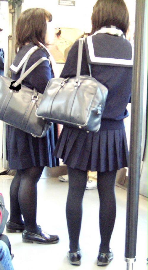 【盗撮】黒タイツを履いたミニスカ女子高生画像まとめ 36枚 No.22