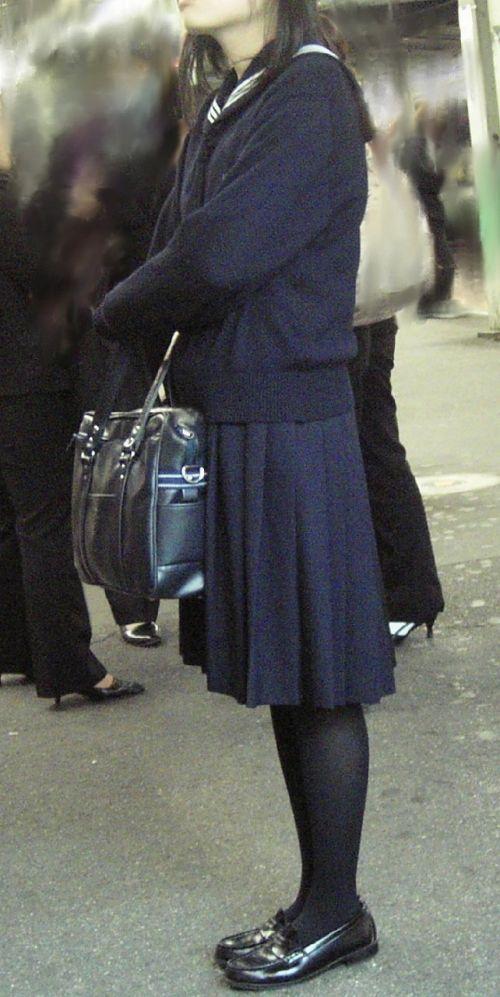 【盗撮】黒タイツを履いたミニスカ女子高生画像まとめ 36枚 No.24