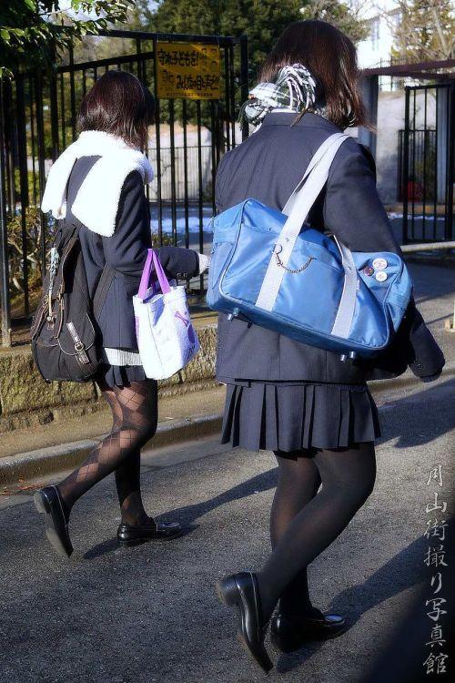 【盗撮】黒タイツを履いたミニスカ女子高生画像まとめ 36枚 No.27