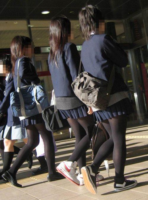 【盗撮】黒タイツを履いたミニスカ女子高生画像まとめ 36枚 No.30