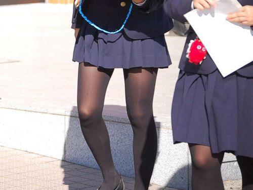 【盗撮】黒タイツを履いたミニスカ女子高生画像まとめ 36枚 No.31