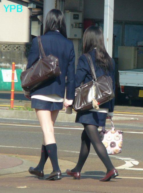 【盗撮】黒タイツを履いたミニスカ女子高生画像まとめ 36枚 No.32