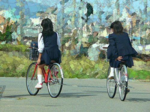 【盗撮】街中を歩いてたら自転車通学中のJKのパンチラ見えちゃったわwww 39枚 No.6