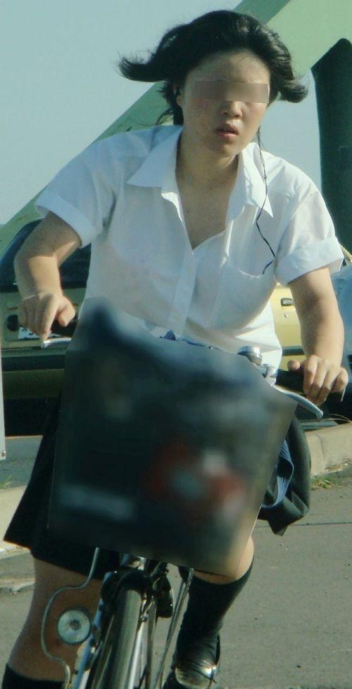 【盗撮】街中を歩いてたら自転車通学中のJKのパンチラ見えちゃったわwww 39枚 No.15