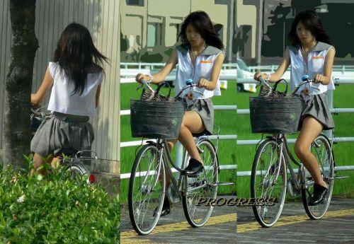 【盗撮】街中を歩いてたら自転車通学中のJKのパンチラ見えちゃったわwww 39枚 No.19
