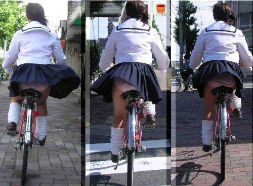 【盗撮】街中を歩いてたら自転車通学中のJKのパンチラ見えちゃったわwww 39枚 No.31