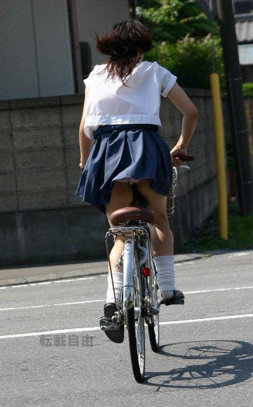 【盗撮】街中を歩いてたら自転車通学中のJKのパンチラ見えちゃったわwww 39枚 No.34