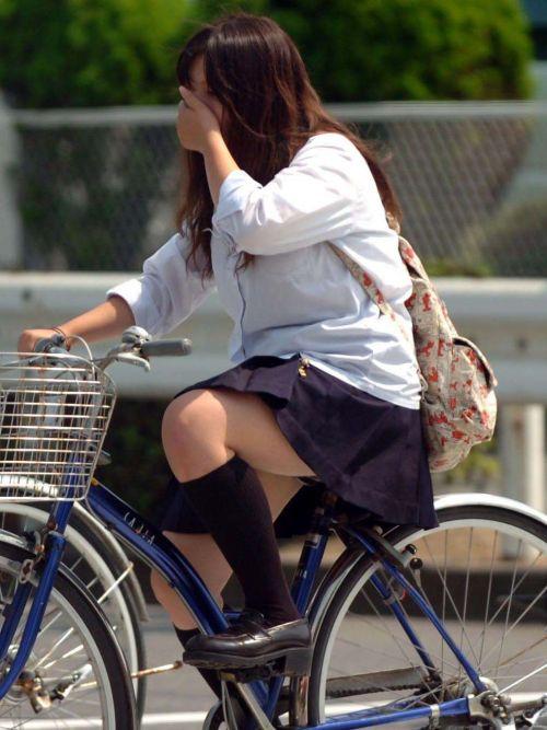 【盗撮】街中を歩いてたら自転車通学中のJKのパンチラ見えちゃったわwww 39枚 No.36