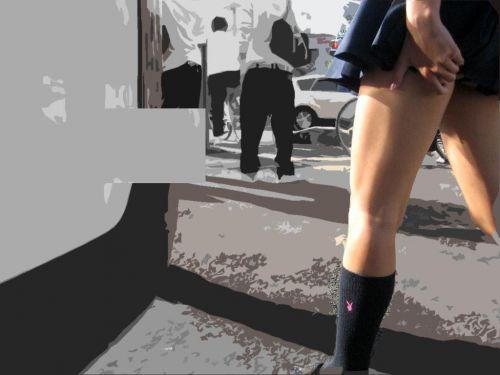 スラっとエロくて健康的なJKの美脚を盗撮したエロ画像! No.32
