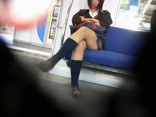 電車通学してるJKの油断した瞬間を激写した盗撮画像まとめ No.7