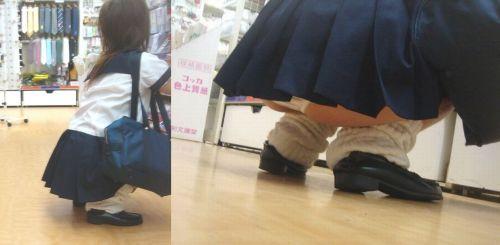 しゃがんだり、地面に座り込む素人JKのエッチな盗撮画像まとめ 37枚 No.29