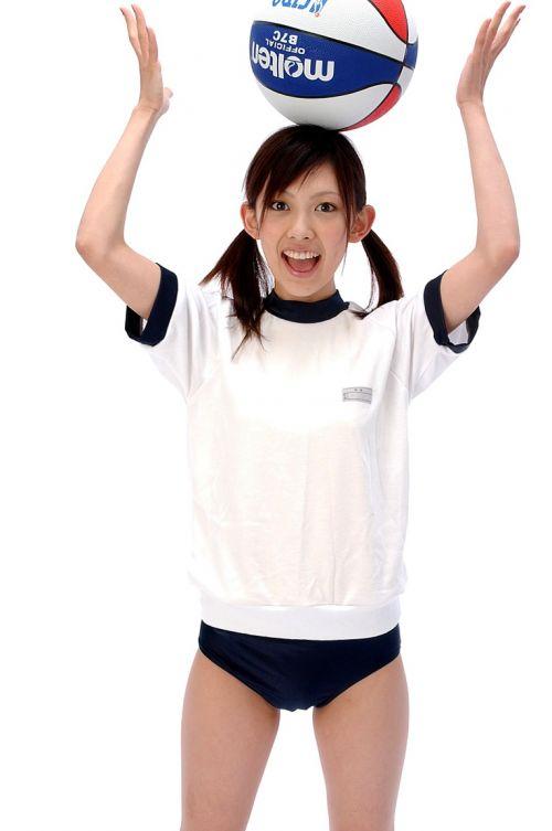 ノーブラノーパンでブルマと体操服を着てるJKとセックスしたくなるエロ画像 No.5