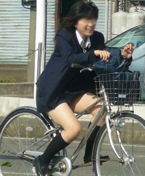 【盗撮画像】ミニスカJKが自転車通学すると当然パンチラしまくるよな 41枚 part.2 No.38