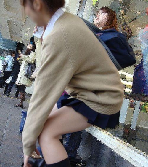 生足に色々な靴下履いたJKを盗撮したエロ画像まとめ No.23