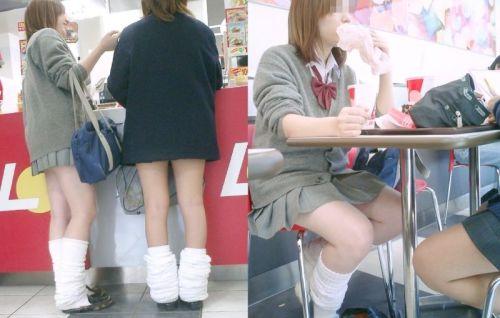 生足に色々な靴下履いたJKを盗撮したエロ画像まとめ No.33