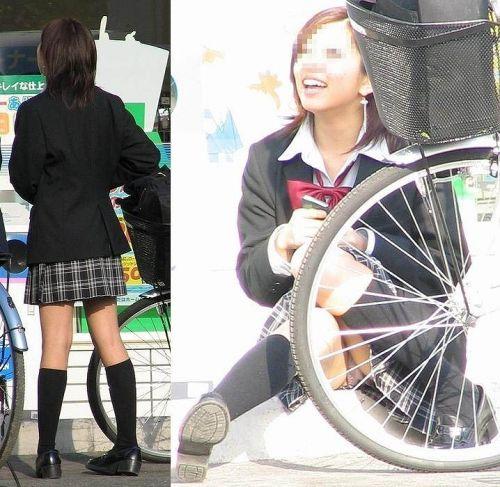 【盗撮画像】素人女子校生の街角で座り込んだりしゃがみパンチラがエロいわwww No.33
