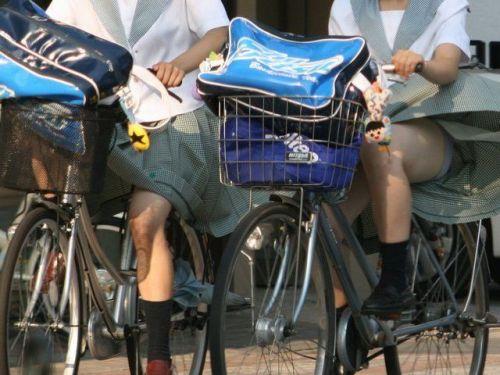 JKが座った自転車のサドルのぬくもりを感じたくなるエロ画像まとめ No.1