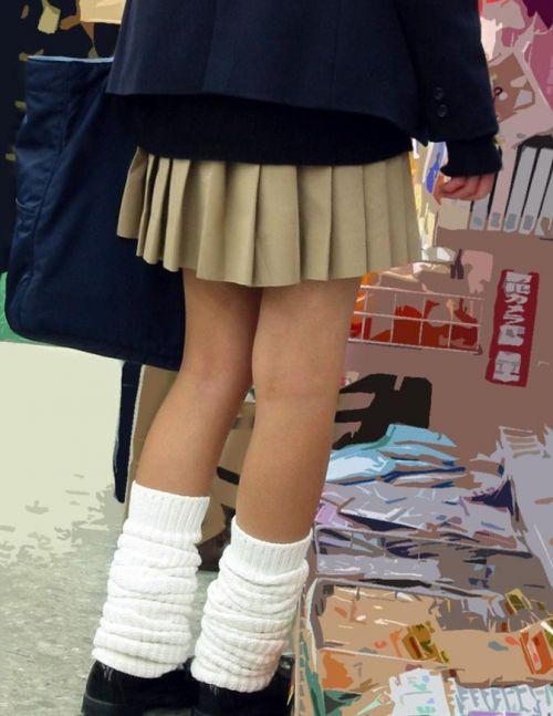 JKの足フェチやソックスフェチのための制服太ももエロ画像まとめ No.9