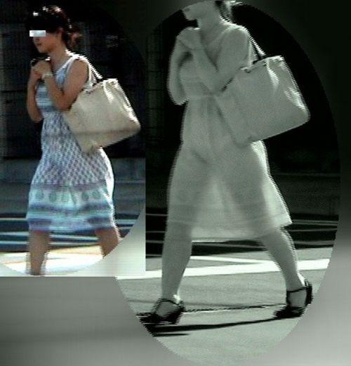 【盗撮エロ画像】赤外線カメラで街撮りしたらパンティ透視状態だわwww 31枚 No.20