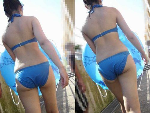 【盗撮画像】水着姿の大きなお尻や小さなお尻をエロ目線でまとめたよ 35枚 No.10