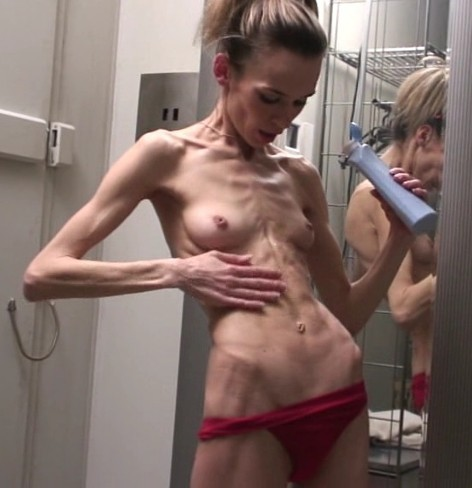 【画像】ガリ貧乳というガリガリに痩せた女の子凄すぎwww 34枚 No.24