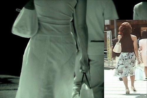 赤外線盗撮でパンティが丸見えになって素人ギャルのエロ画像 33枚 No.12