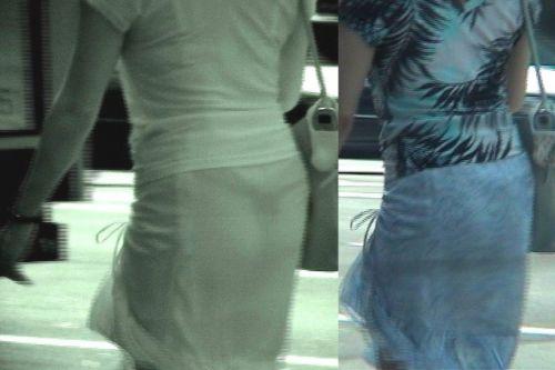 赤外線盗撮でパンティが丸見えになって素人ギャルのエロ画像 33枚 No.24