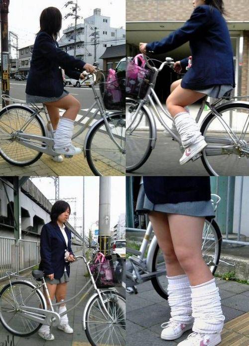 JKの自転車パンチラ盗撮画像集めたから貼っていくわ! 42枚 part.2 No.5