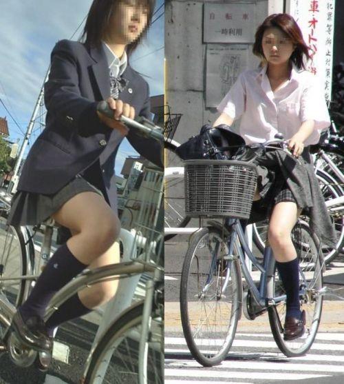 JKの自転車パンチラ盗撮画像集めたから貼っていくわ! 42枚 part.2 No.11