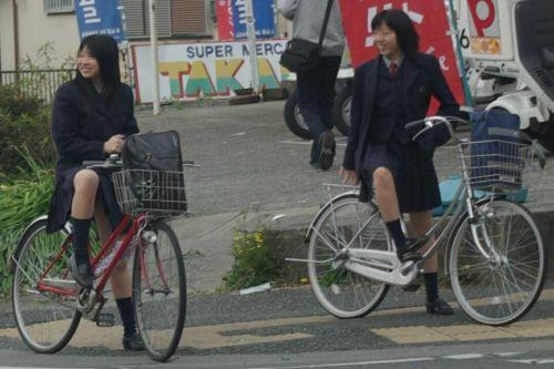 JKの自転車パンチラ盗撮画像集めたから貼っていくわ! 42枚 part.2 No.13