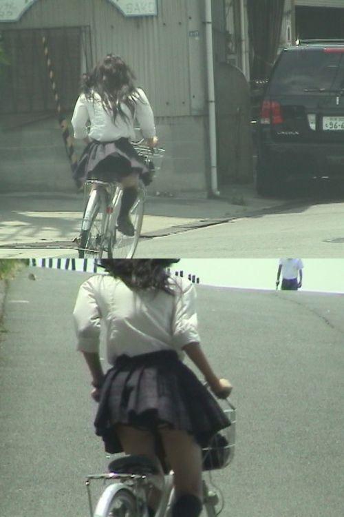 JKの自転車パンチラ盗撮画像集めたから貼っていくわ! 42枚 part.2 No.17