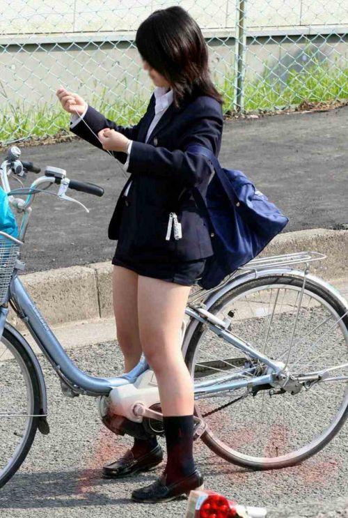 JKの自転車パンチラ盗撮画像集めたから貼っていくわ! 42枚 part.2 No.21