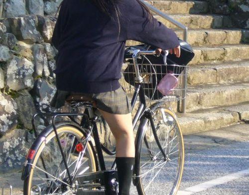 JKの自転車パンチラ盗撮画像集めたから貼っていくわ! 42枚 part.2 No.23