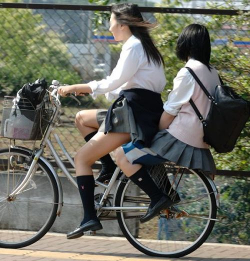 JKの自転車パンチラ盗撮画像集めたから貼っていくわ! 42枚 part.2 No.27