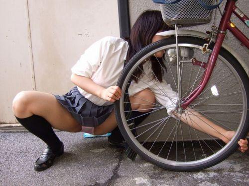 JKの自転車パンチラ盗撮画像集めたから貼っていくわ! 42枚 part.2 No.34