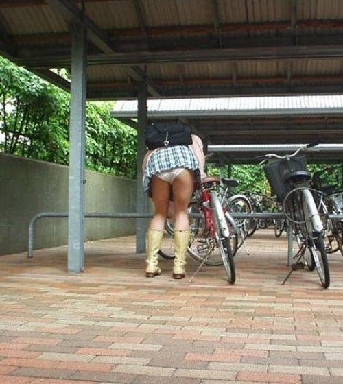 JKの自転車パンチラ盗撮画像集めたから貼っていくわ! 42枚 part.2 No.36