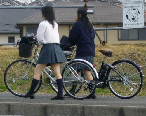 JKの自転車パンチラ盗撮画像集めたから貼っていくわ! 42枚 part.2 No.37