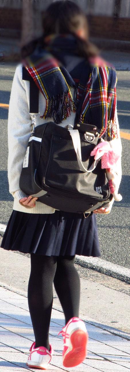 女子校生のミニスカに黒タイツが清楚かつエロく見える件 37枚 No.10